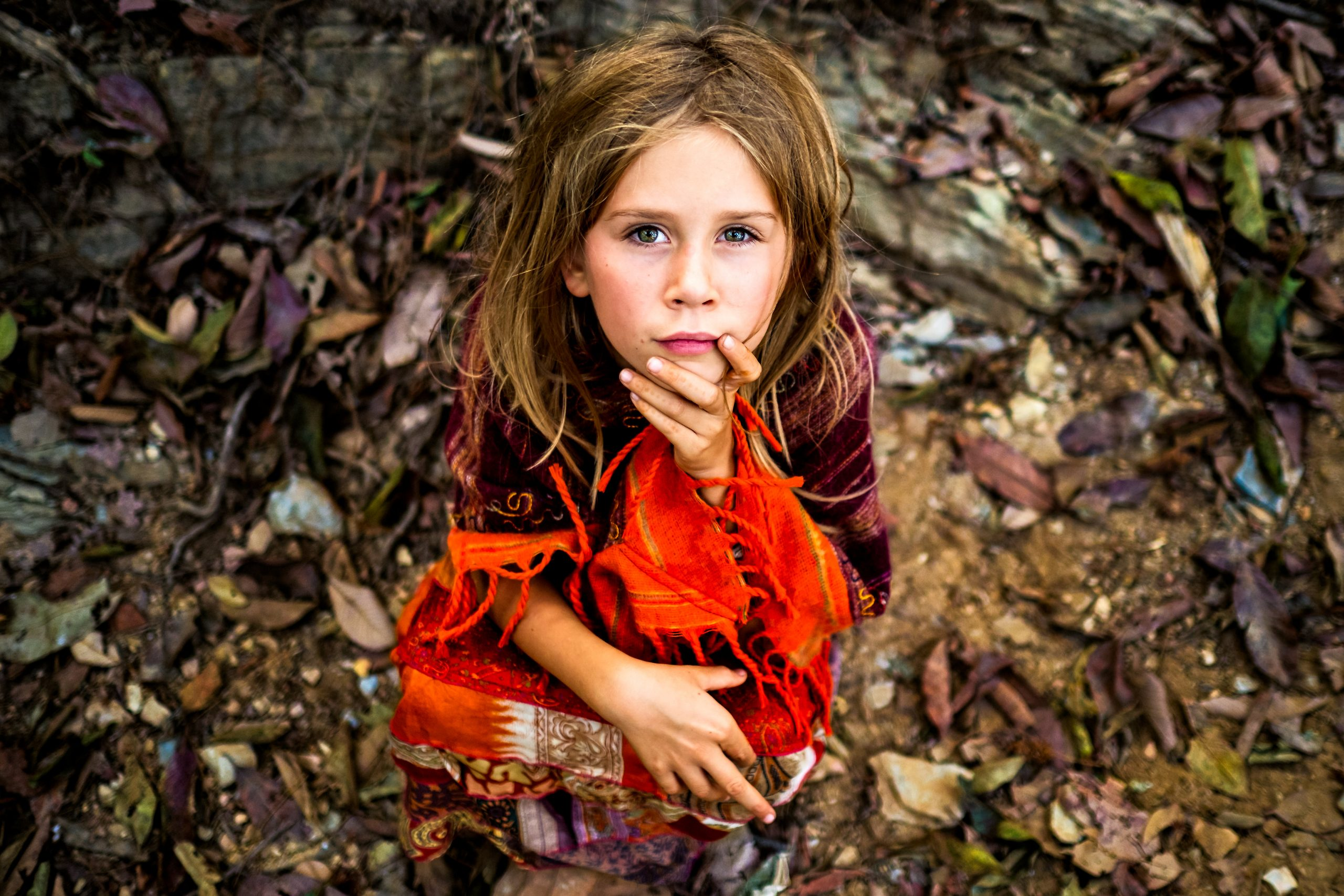 portrait of young girl travelling in nepal