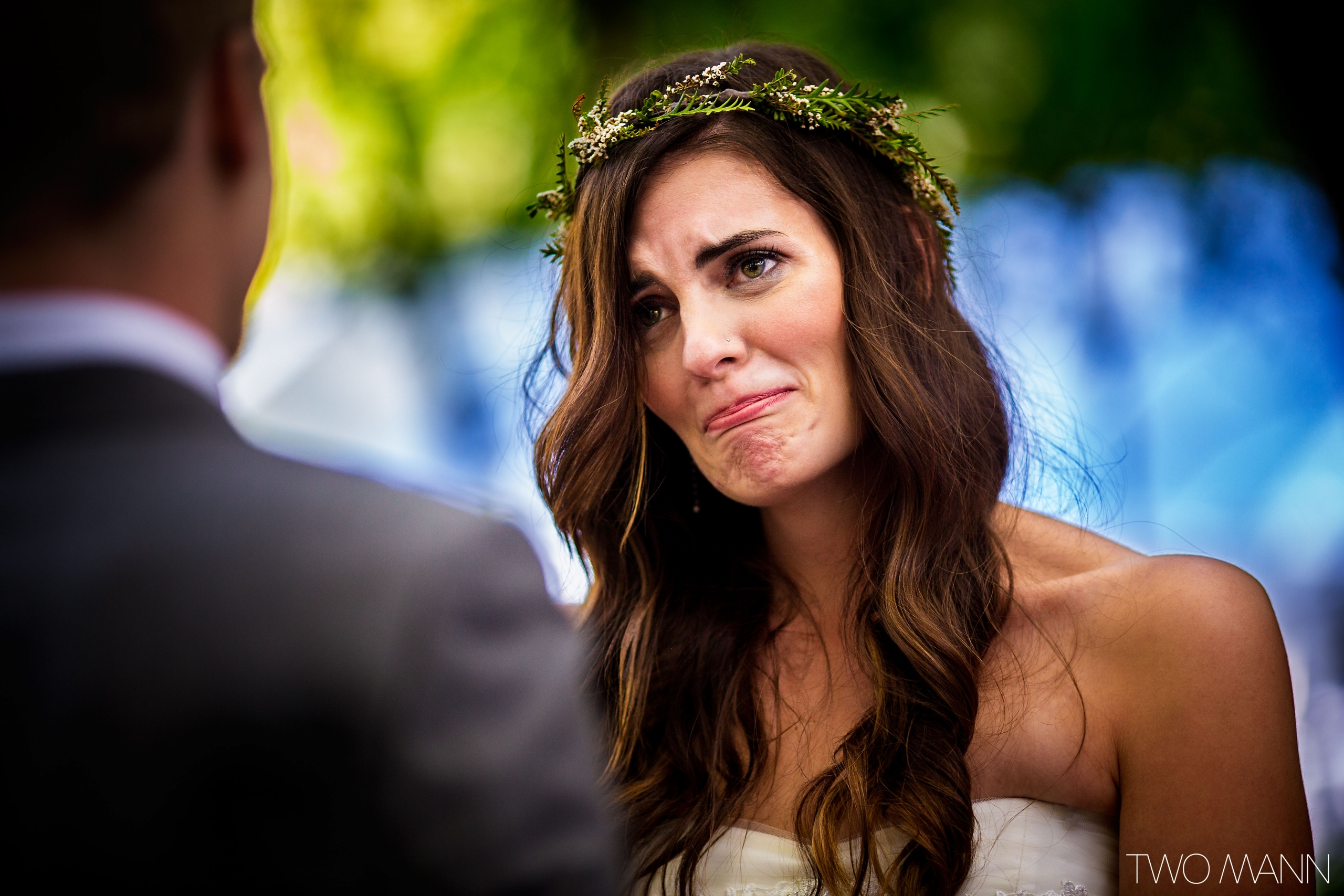 emotional bride at wedding-ceremony