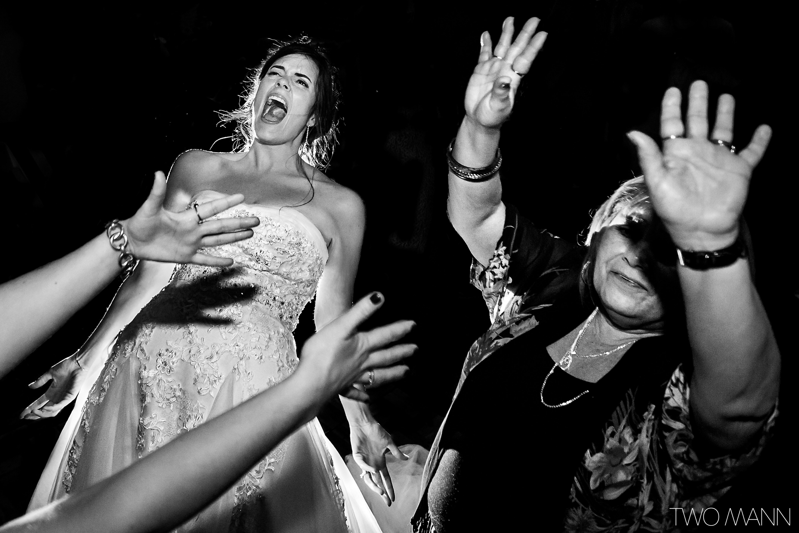 bride and mother dance at reception