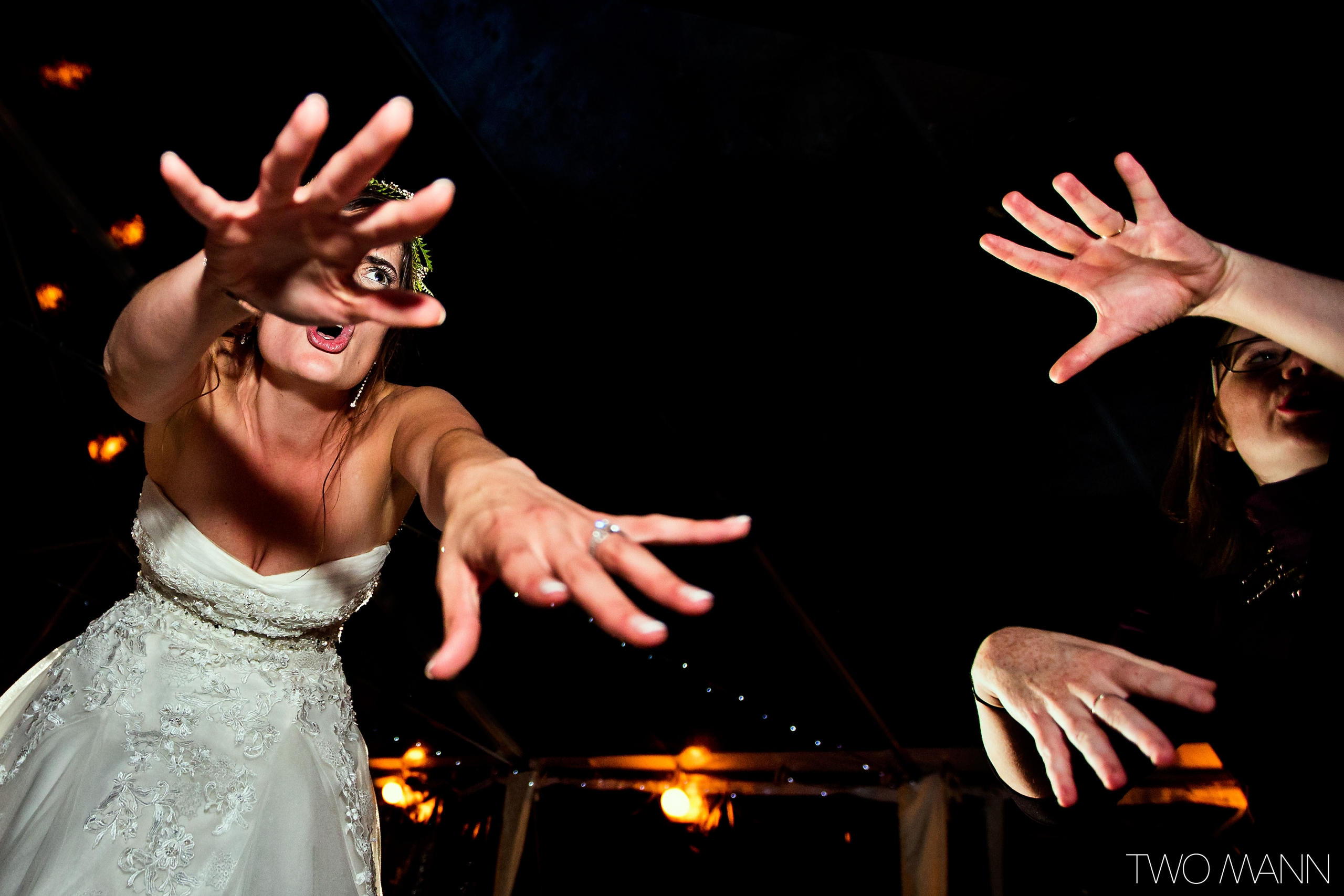 bride's strong dance at reception