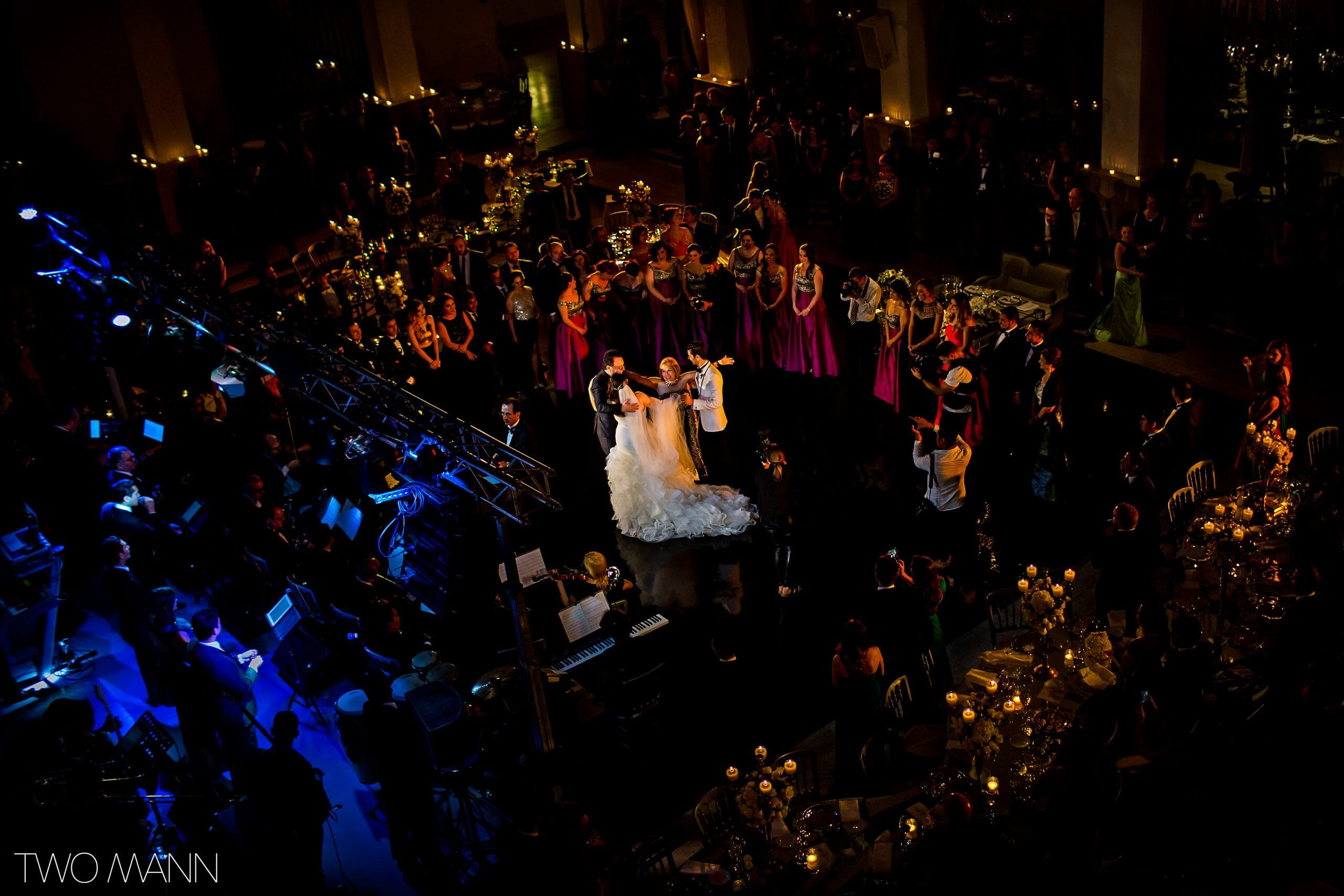 photo of a wedding reception party