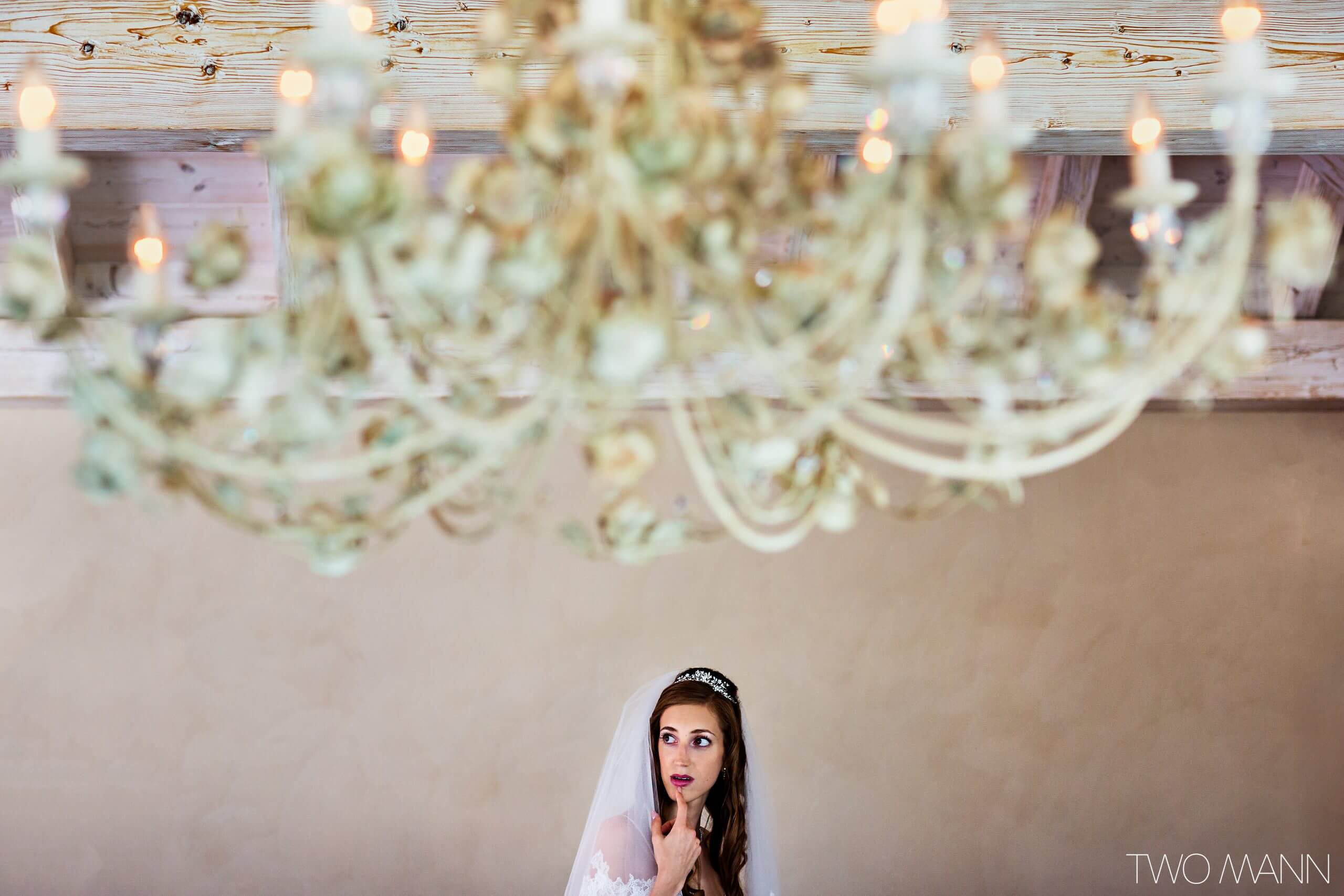 A bride waiting for the ceremony