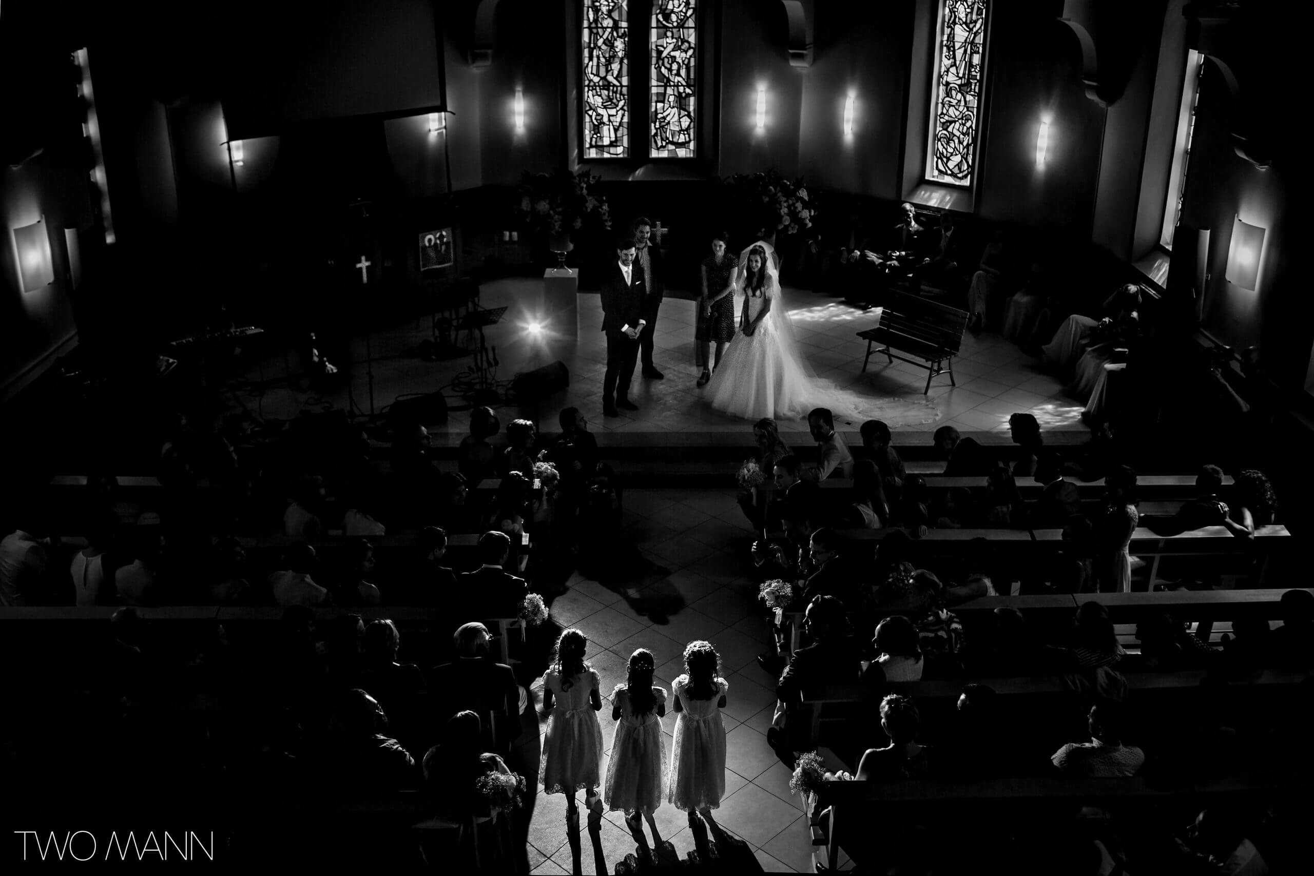 a wedding ceremony in a church