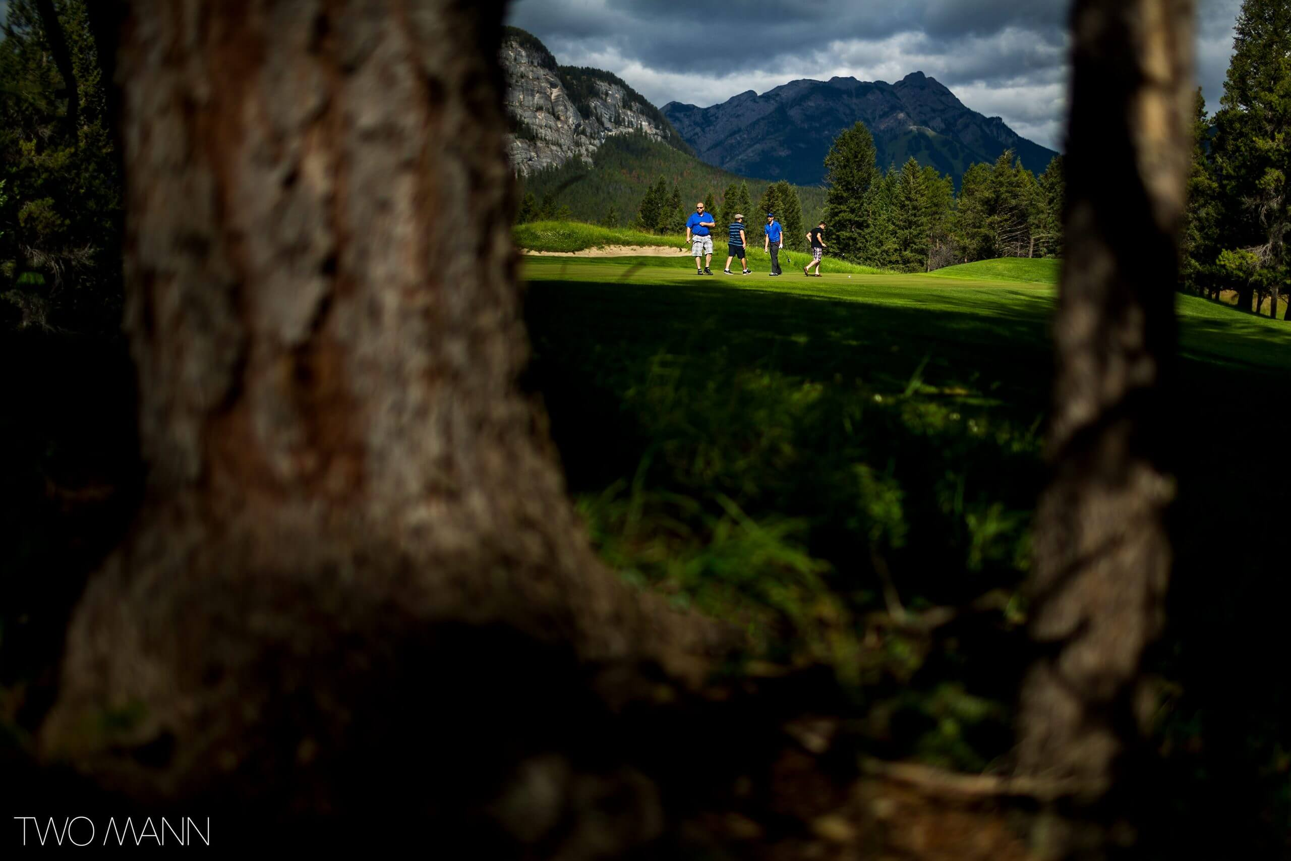 guests playing on the fairmont banff springs golf course