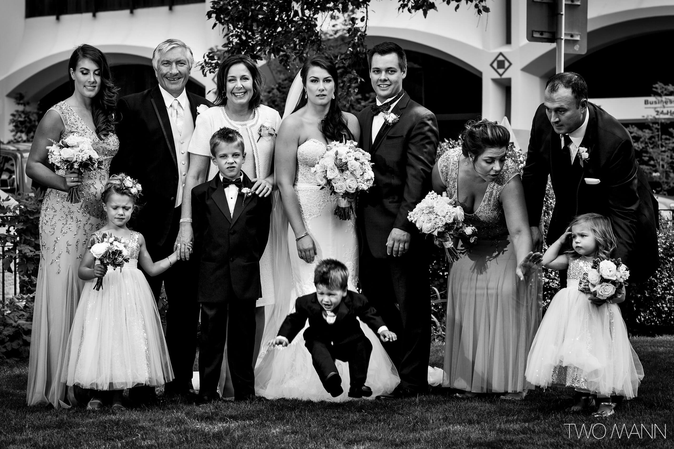 a real life family portrait after wedding
