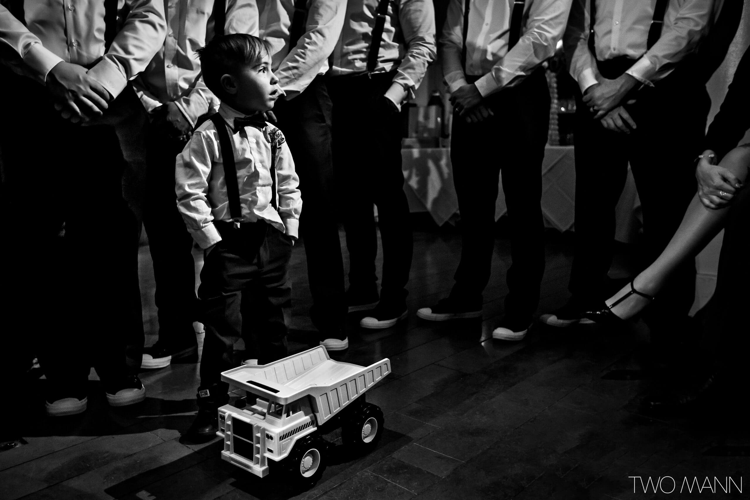 observing the wedding from the perspective of a kid