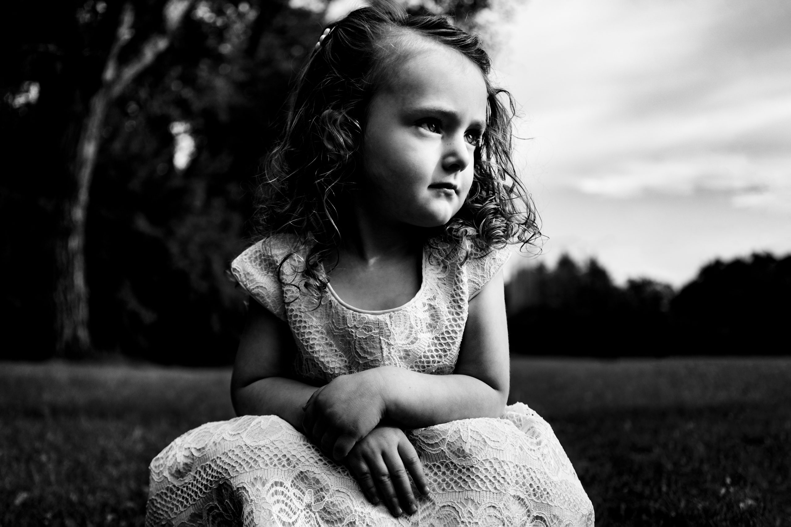 A little girl at a wedding ceremony